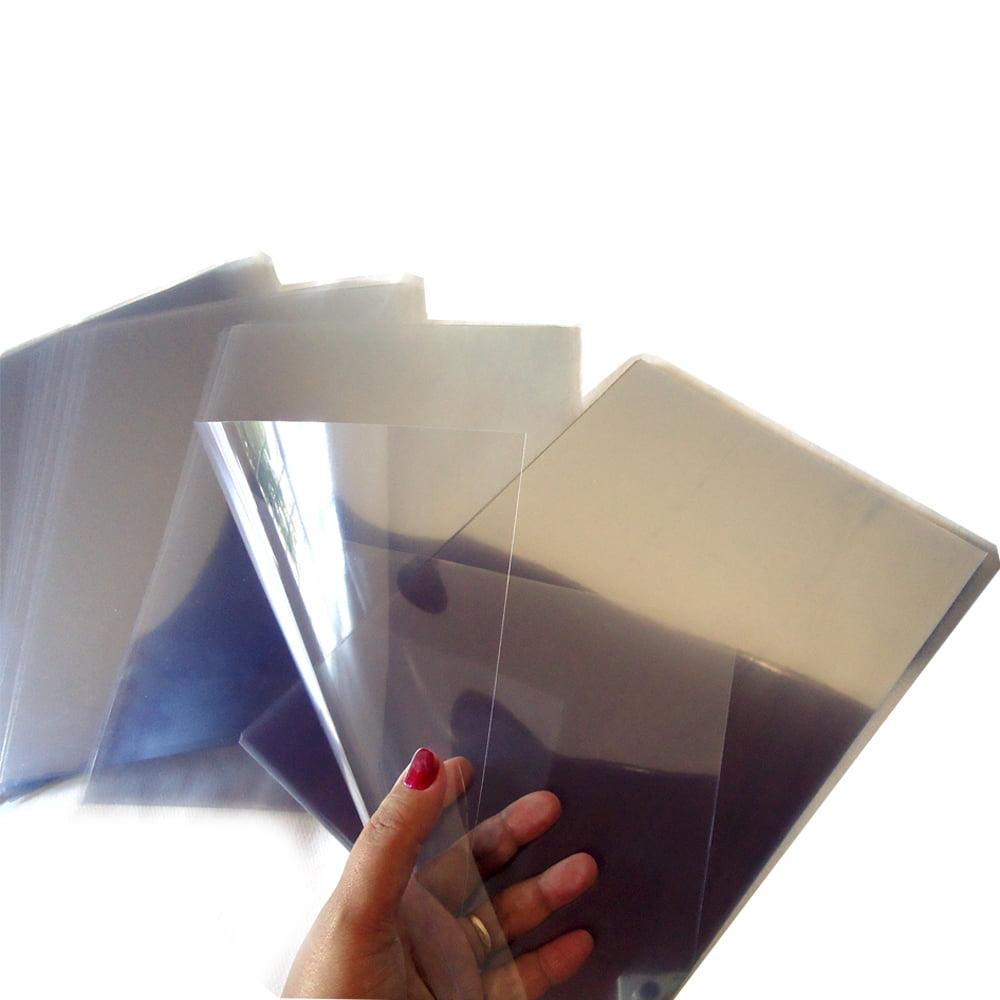 Acetato Transparente 0,25mm Para Capa Encadernação Maquete Embalagem Artesanato Scrapbook Porta Retrato A-4 C/50
