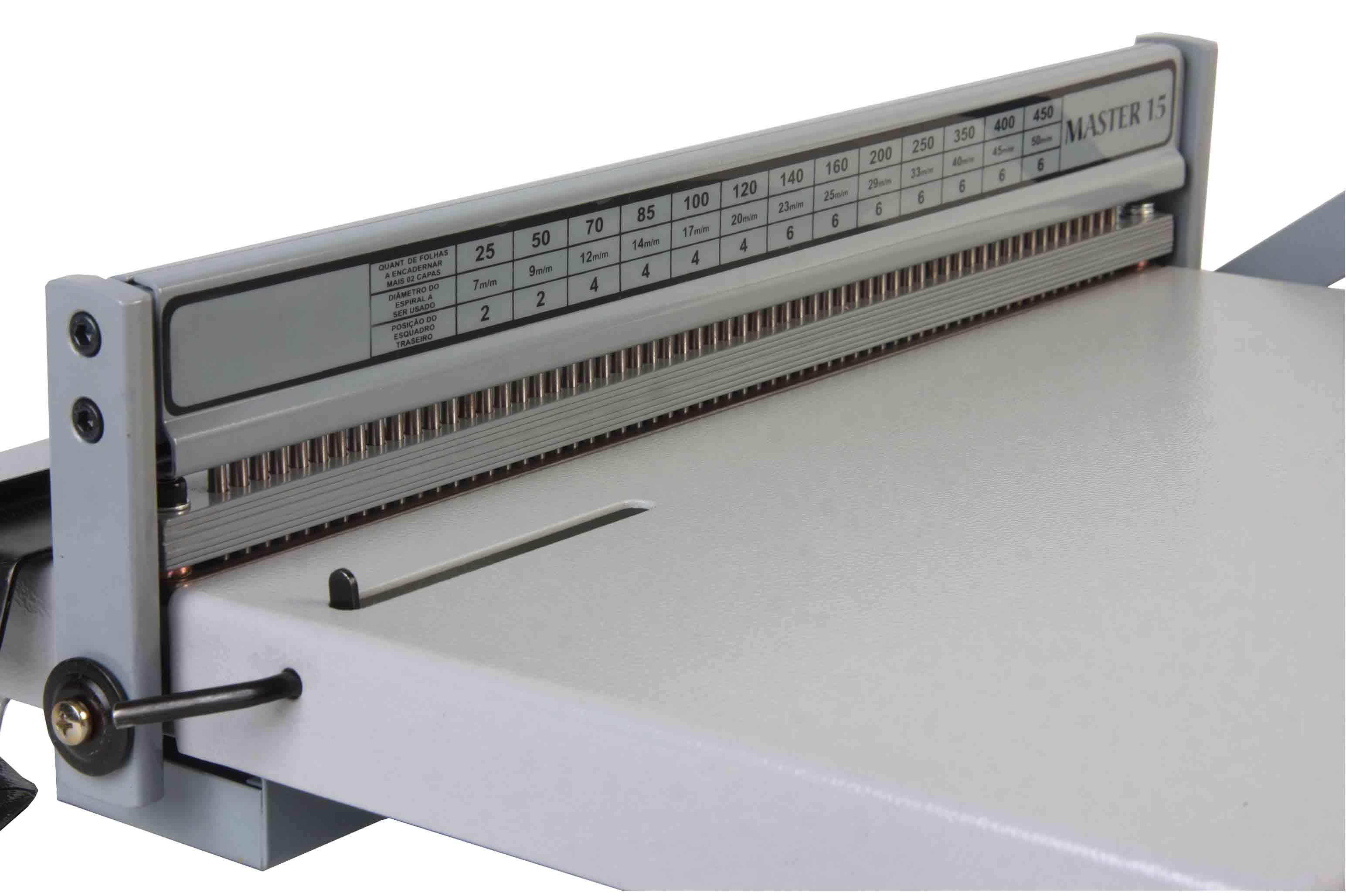 Encadernadora Perfuradora Para Encadernação Espiral Ofício 15fls Profissional EEXO15