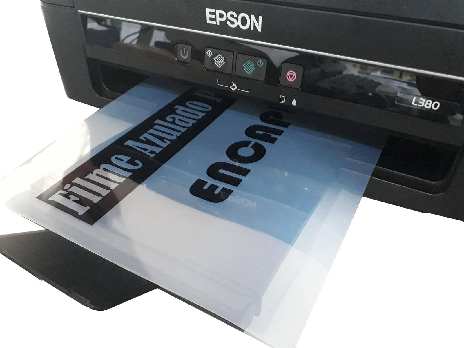 Filme Fotolito Para Serigrafia Policromia Carimbo Circuito Impressora Jato De Tinta Azulado A-4 C/25 folhas