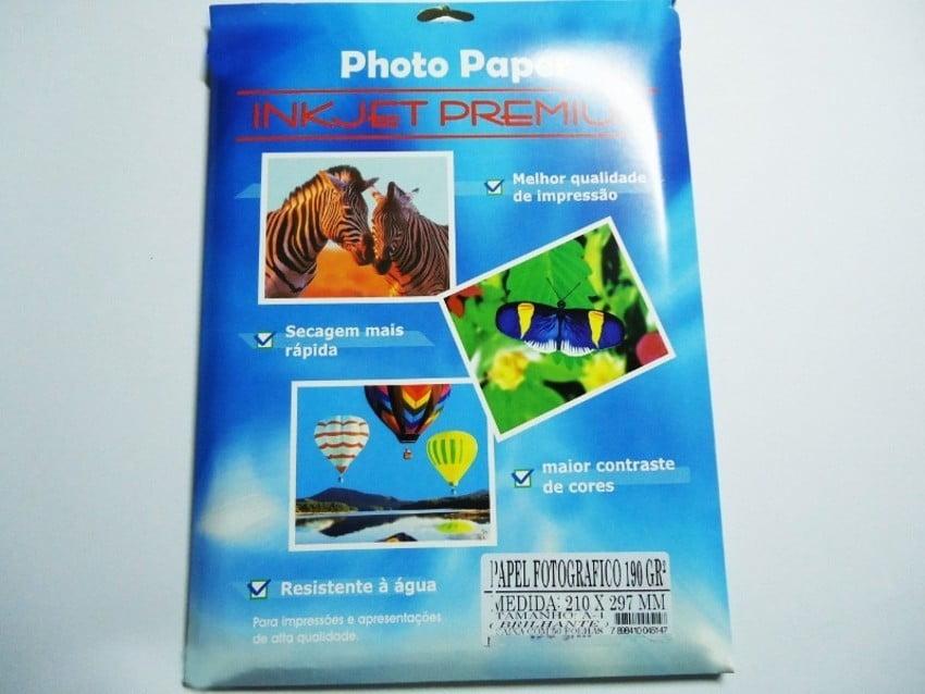 Papel Fotografico Adesivo Brilhante A-4 c/50 folhas