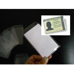Protetor de Documento Carteira de Habilitação CNH Pvc Transparente 65x90 c/100