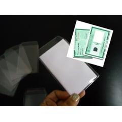 Protetor de Documento Carteira de Identidade RG Pvc Transparente 70x105 c/100 peças