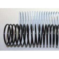 Espiral Plástico p/Encadernação - 45MM Preto p/400 folhas c/15 peças