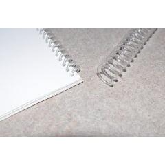 Espiral Plástico p/Encadernação - 45MM Incolor p/400 folhas c/15 peças