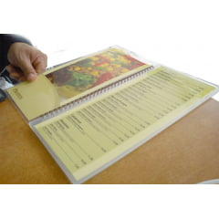 Plastico Para Plastificação de Certificado Catalago Certidão Documento Oficio 226X340 espessura 005 C/50