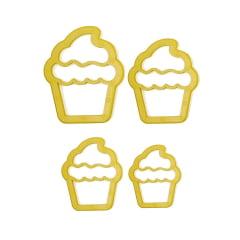Cortador de Biscuit Pasta Americana Confeitaria Biscoito Cupcake Blue Star c/8 peças