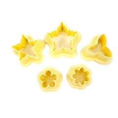 Cortador de Biscuit Pasta Americana Biscoito Flores Cod3 Blue Star
