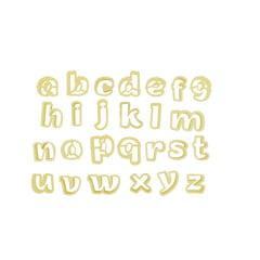 Cortador de Biscuit Pasta Americana Confeitaria Biscoito de Letras Minúscula 3,5cm Blue Star C/34 peças