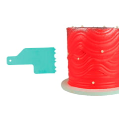 Kit Espátula para Bolo Confeitaria Decorativa Mini Blue Star C/8