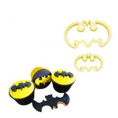 Cortador de Biscuit Pasta Americana Confeitaria Biscoito Heróis Batman Morcego Hallowen 408263 Blue Star