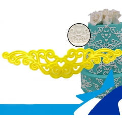 Cortador de Biscuit Pasta Americana Confeitaria Biscoito Arabesco Cod1 Blue Star c/1