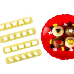 Cortador de Biscuit Pasta Americana Confeitaria Biscoito Régua Miniatura Mickey Cod3  Blue Star C/4