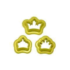 Cortador de Biscuit Pasta Americana Confeitaria Biscoito Coroa Princesa Blue Star