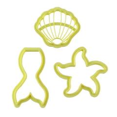 Cortador de Biscuit Pasta Americana Confeitaria Biscoito Pequena Sereia Blue Star