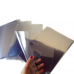 Acetato Transparente 0,25mm Para Capa Encadernação Maquete Embalagem Artesanato Scrapbook Porta Retrato A-4 c/100