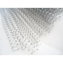 Espiral Plástico p/Encadernação - 07MM Preto p/25 folhas c/100 peças