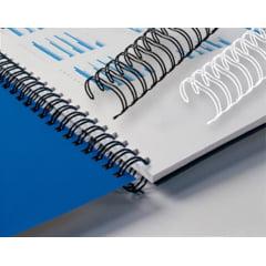 Garra Duplo Anel Wire-o p/ Encadernação A-4 - 7/16 p/ 80 folhas