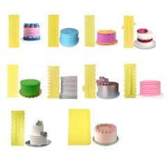 Kit Espatula P/Confeitaria Alisa Textura Raspa Corta c/10 pç 20 efeitos