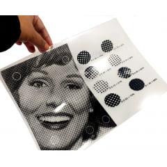 Filme Para Fotolito Policromia Retícula Carimbo Circuito Impresso Azulado para Jato De Tinta A-3 C/50 folhas