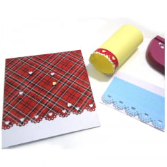 Furador de Papel Para Scrapbook Borda Gigante Coração HCP606-063