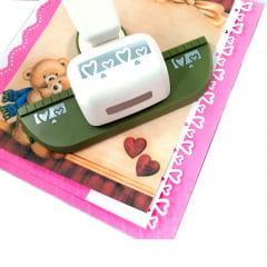 Furador de Papel Para Scrapbook Borda Gigante Coração Estilizado HCP606-054
