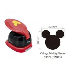 Furador Disney Cabeça Mickey Para Scrapook Jumbo 2,3cm TEC