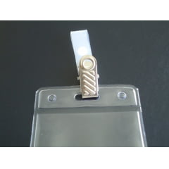 Kit Protetor Pvc P/Cracha Vertical 60x90 + Presilha Jacare Metal C/25