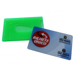 Protetor de Cartão Magnético Crachá Bilhete Ônibus c/25
