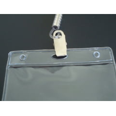 KIT Protetor Pvc P/Cracha Horizontal 60x90 + Cordão Silicone Presilha C/25