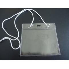 KIT Protetor Pvc P/Cracha Horizontal + 80x110 Cordão Nylon C/100