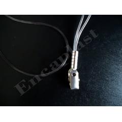 KIT Protetor Pvc P/Cracha Horizontal 80x110 + Cordão Silicone Presilha C/25 PÇS
