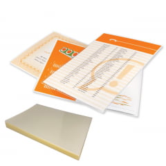Plastico Para Plastificação de Certificado Catalago Certidão Documento Oficio 226X340 espessura 007 C/50