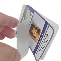 Plastico Para Plastificação Polaseal Plastificação Crachá Cartão 54X86mm espessura 005 125 microns c/100