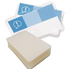 Plastico Para Plastificação Polaseal Plastificação Crachá Cartão 59X86mm espessura 005 125 microns c/100